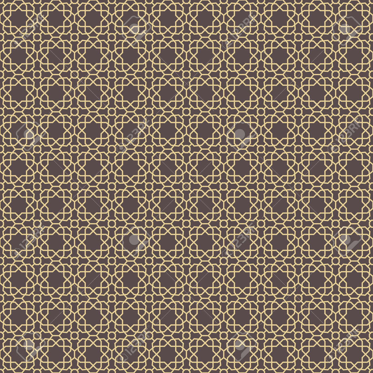 Seamless Geometric Brown and Golden Background - 167039509
