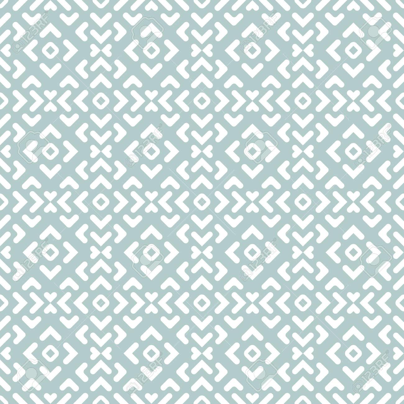 Seamless Geometric Light Blue and White Background - 167039512