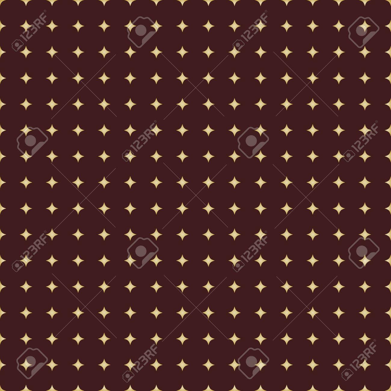 Seamless Modern Pattern With Golden Stars - 167039482