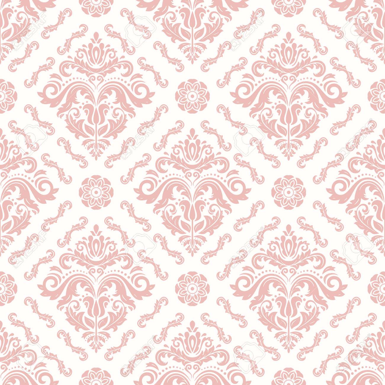 Orient Seamless Light Pink Background - 167100161