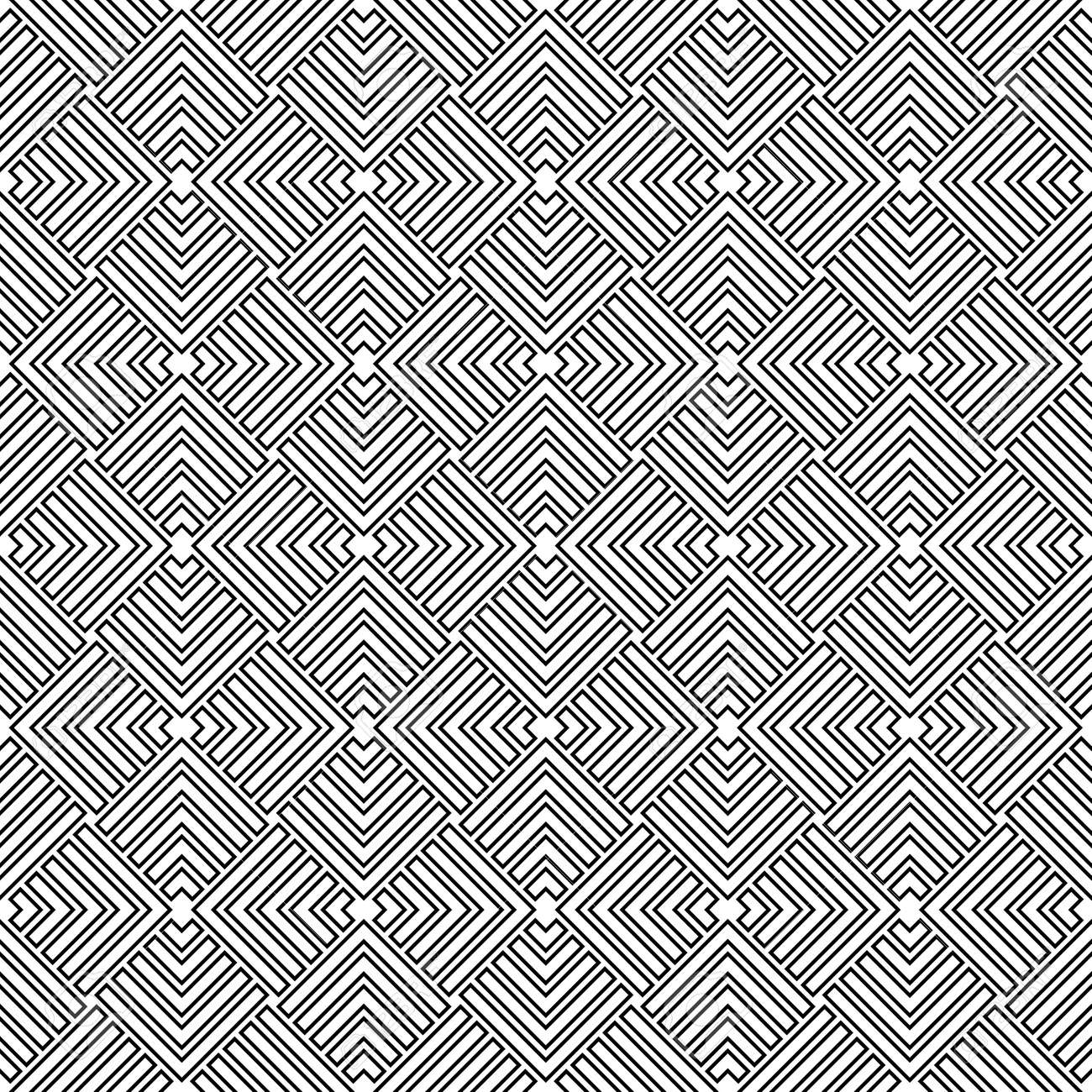 Seamless background for your designs. Modern black and white ornament. Geometric abstract pattern - 167155951
