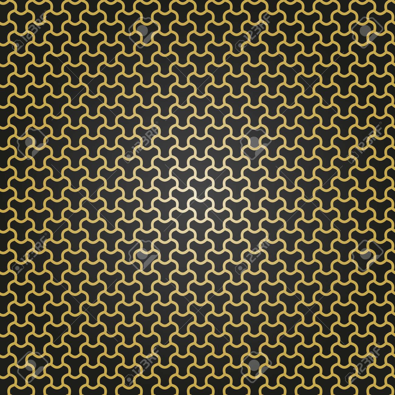 Seamless black and golden ornament. Modern background. Geometric modern pattern - 167155952