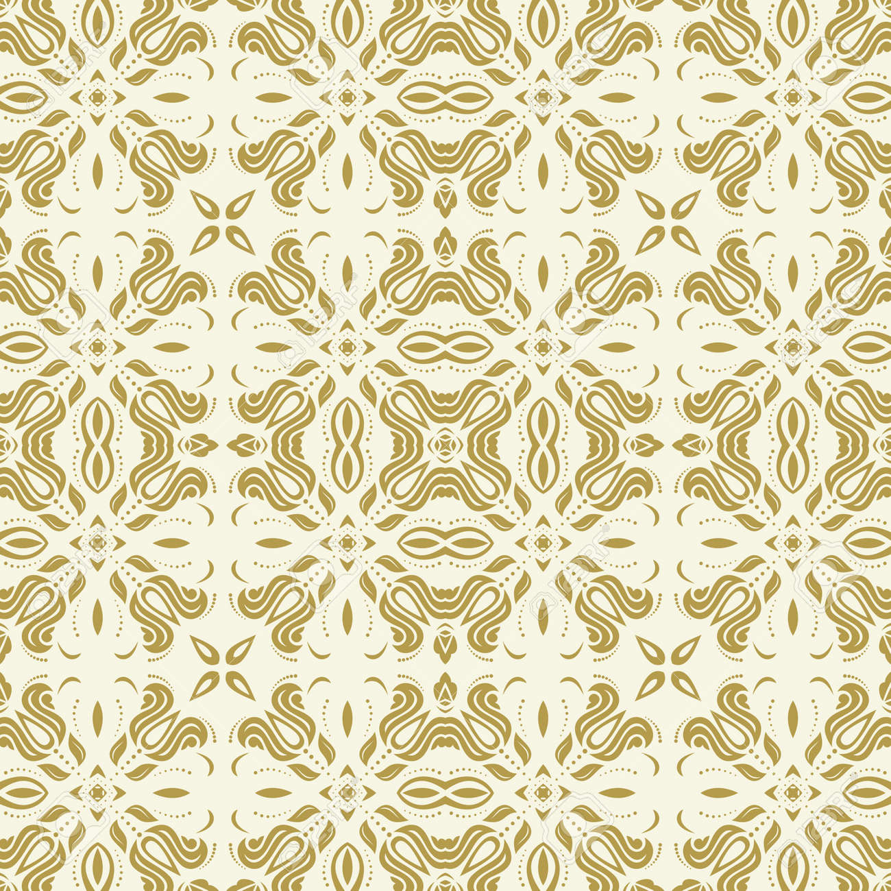 Orient classic pattern. Seamless abstract golden background with vintage elements. Orient background. Ornament for wallpaper and packaging - 169499778