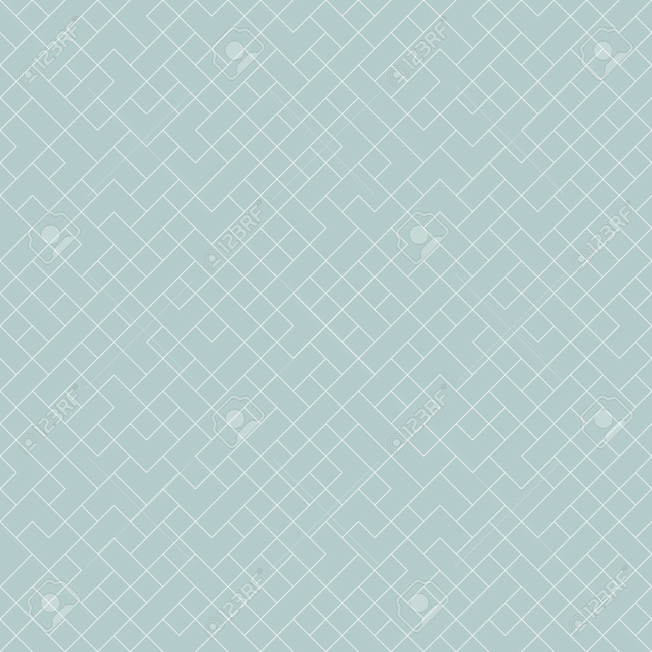 Seamless background for your designs. Modern blue and white ornament. Geometric abstract pattern - 169499786