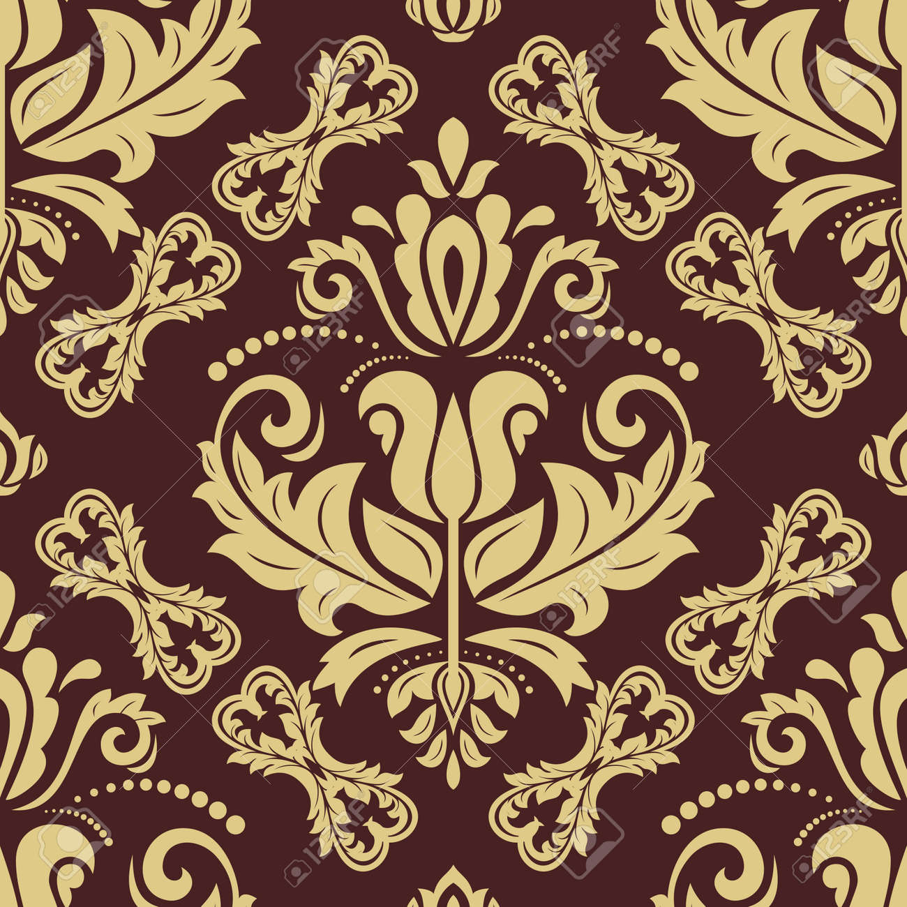 Orient vector classic golden pattern. Seamless background with vintage elements. Orient background. Ornament for wallpaper and packaging - 169559467