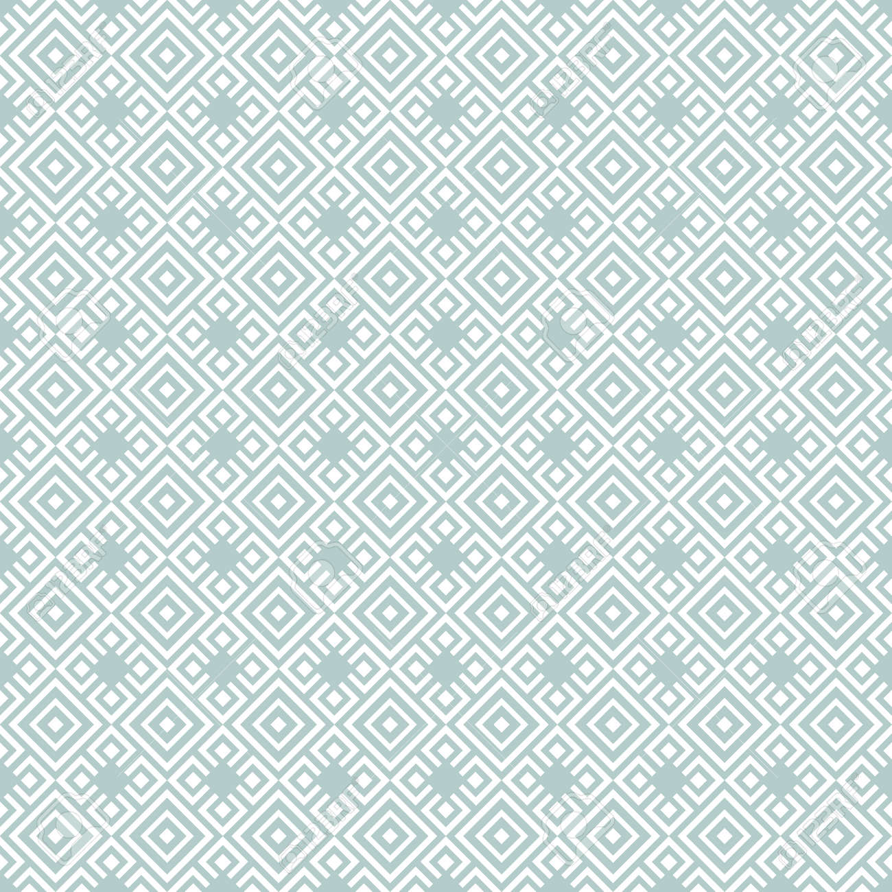 Geometric abstract vector pattern. Geometric modern light blue and white ornament. Seamless modern background - 169499791