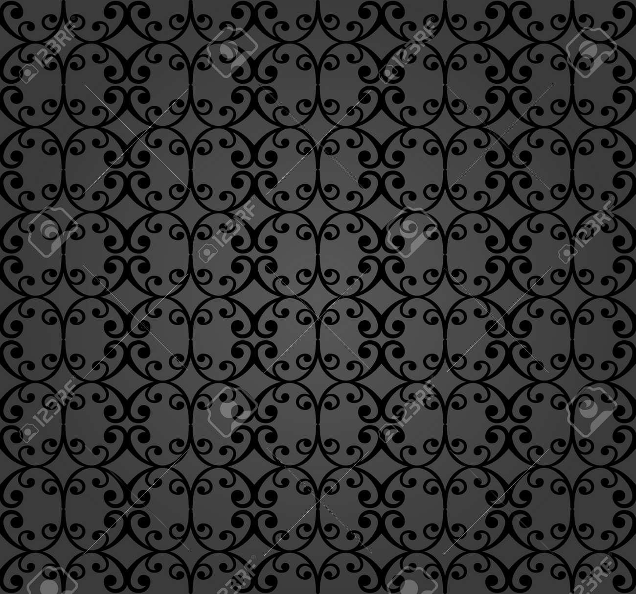 Seamless vector ornament. Modern background. Geometric modern dark pattern - 169499803