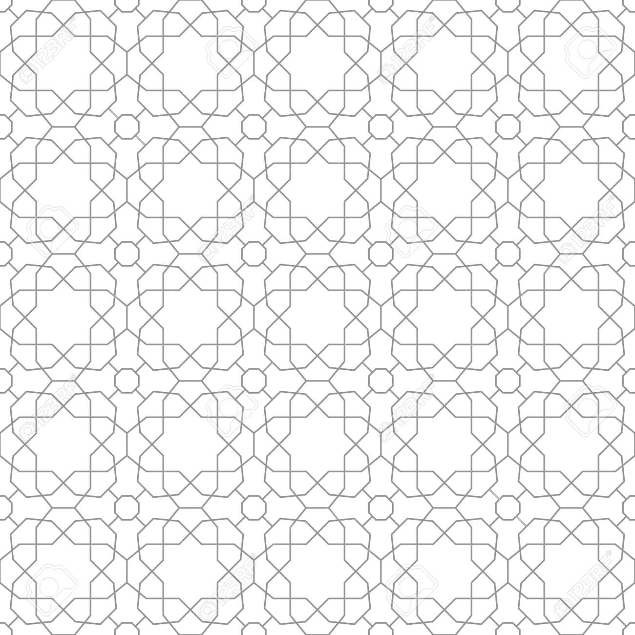 Geometric abstract vector pattern. Geometric modern ornament. Seamless modern silver background - 169499806