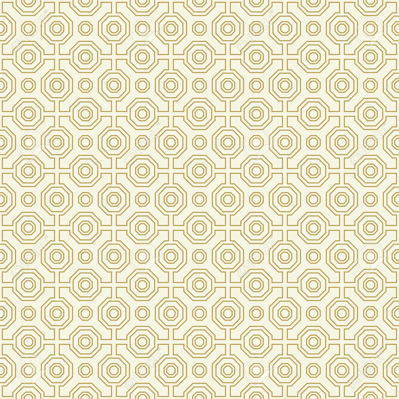 Geometric abstract octagonal golden and white background. Geometric abstract ornament. Seamless modern pattern - 169559477