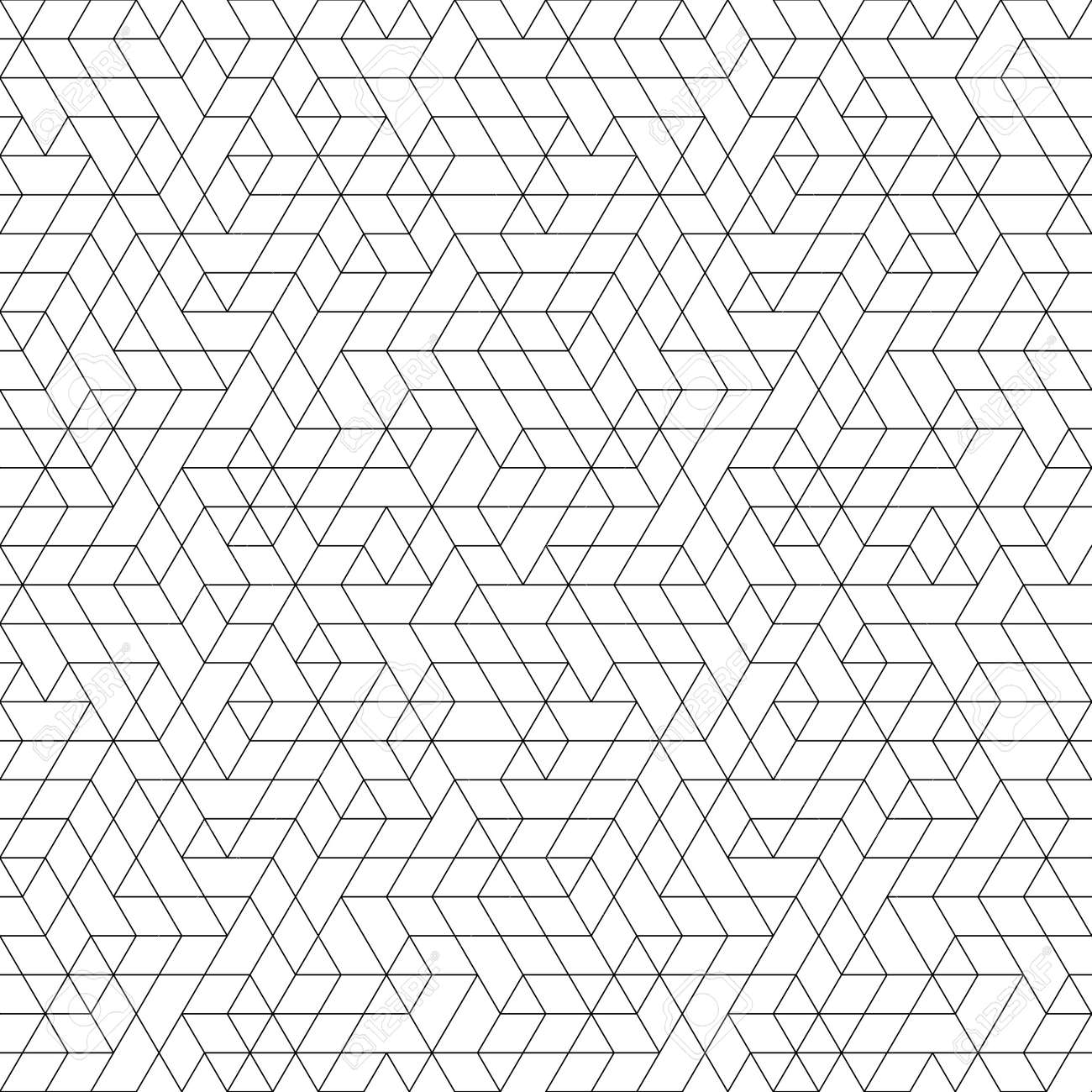 Seamless background for your designs. Modern ornament. Geometric abstract black and white pattern - 169559488