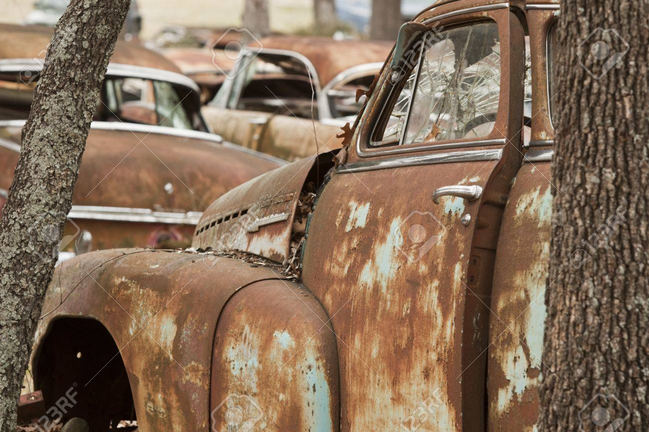 Vintage Salvage Yard Stock Photo, Picture And Royalty Free Image ...