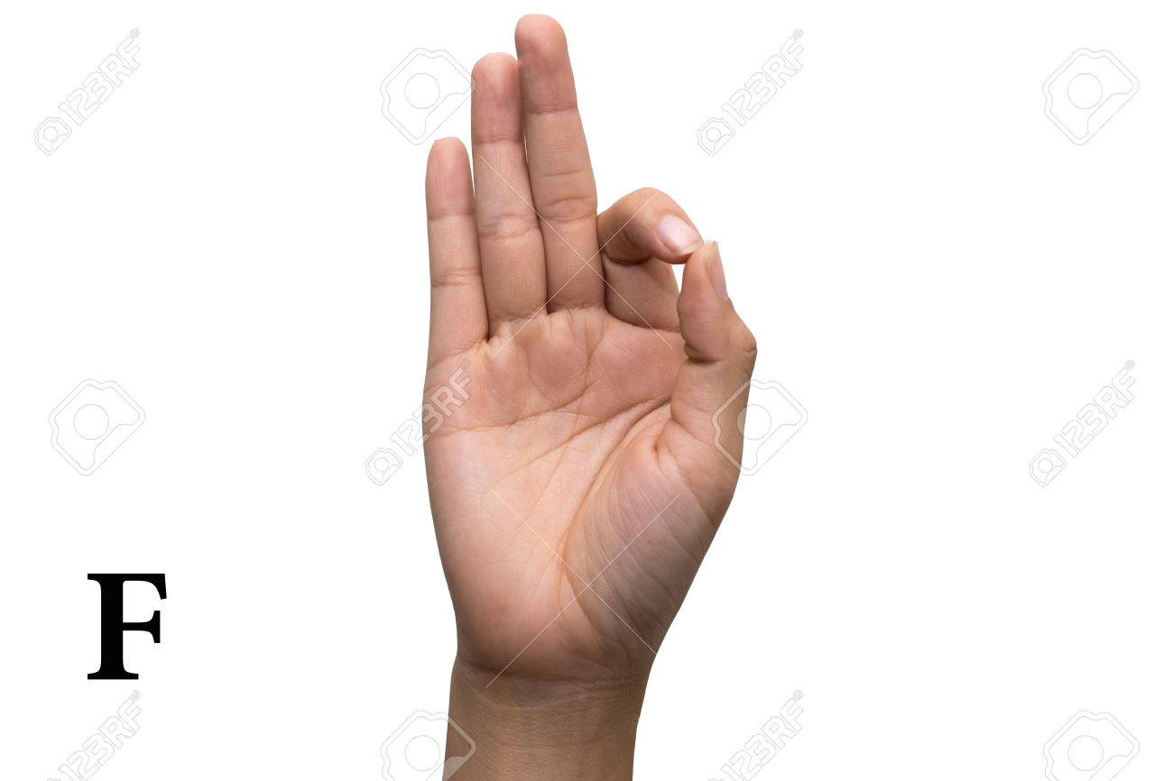 Finger Spelling The Alphabet In American Sign Language (ASL