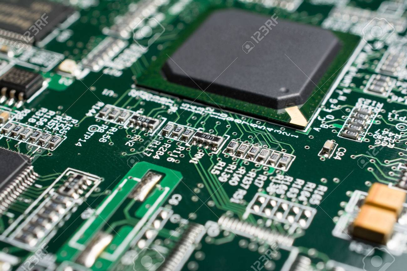 detail of an electronic printed circuit board with many electrical rh 123rf com Blank Circuit Board Material Circuit Board Parts Identification