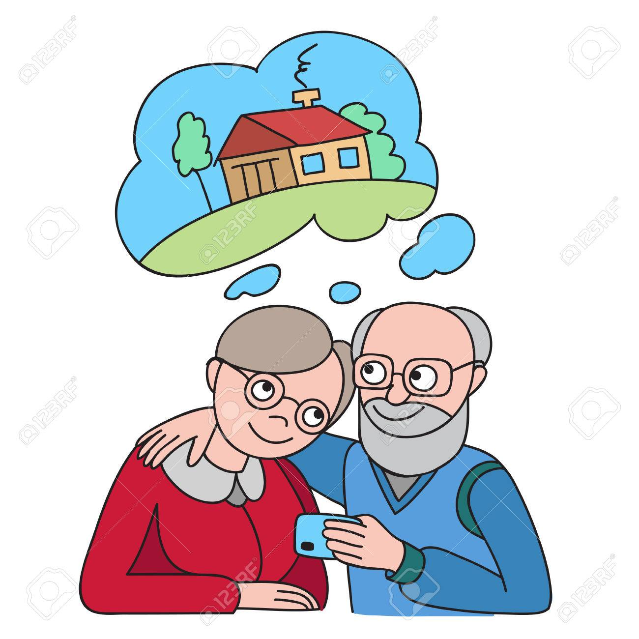 Senior Couple With Credit Card Dreaming About House Banking Rh 123rf Com