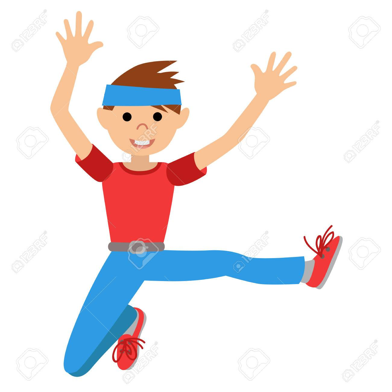 Boy Dancing In Class Vector Illustration Isolated Stock