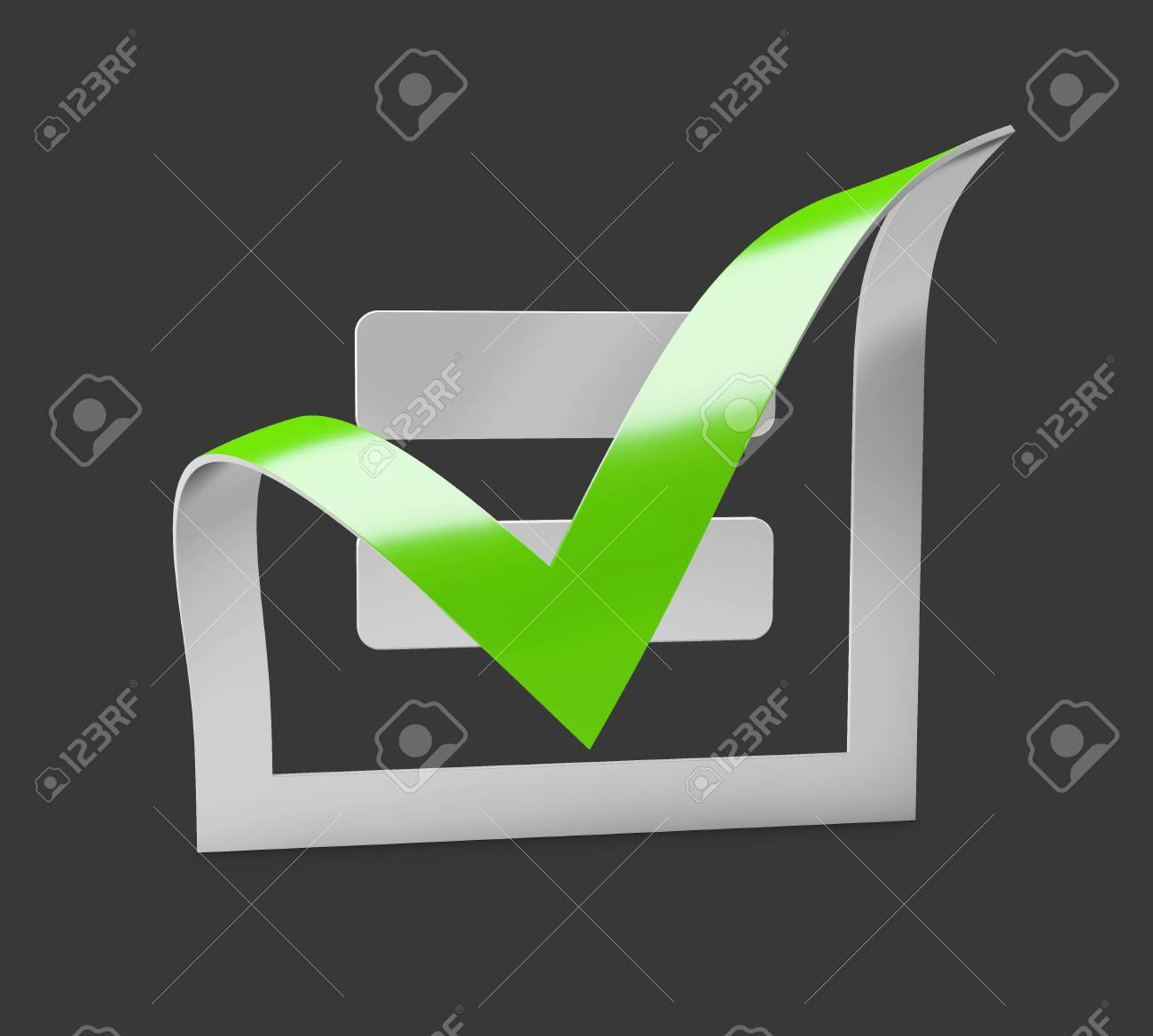 Green check mark icon tick symbol in green color 3d illustration green check mark icon tick symbol in green color 3d illustration stock illustration biocorpaavc Image collections