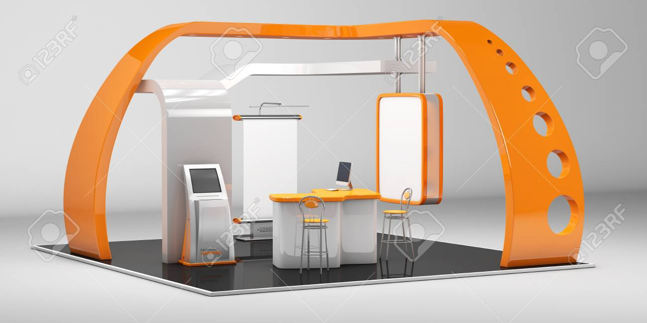 Exhibition Stall Xl : 3d illustrated unique creative exhibition stand display design