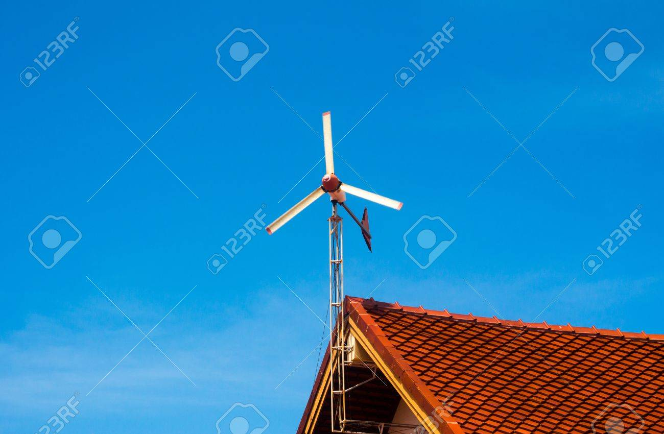Changing wind power into electricity - 15351841