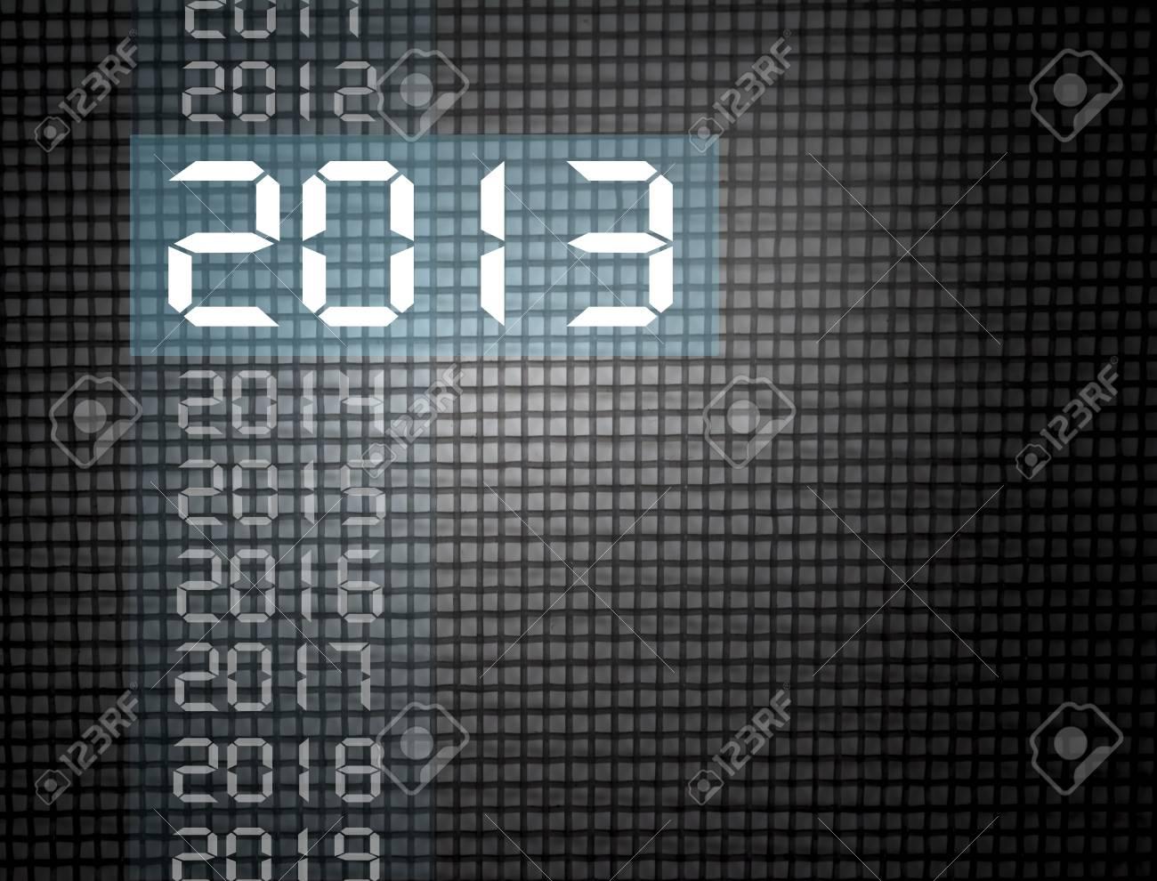 new year 2013, on a dark background - 16723701