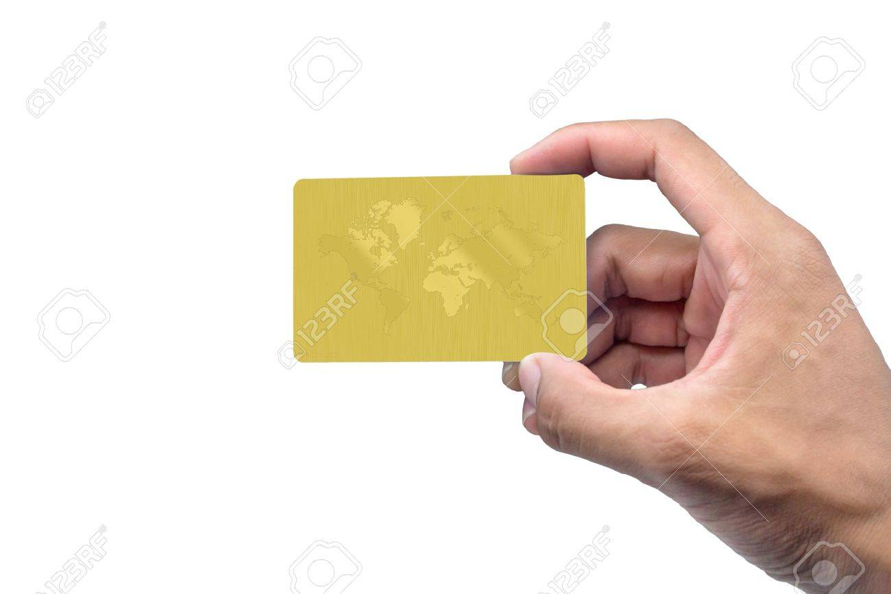 Hand holding card with empty space. - 22019666