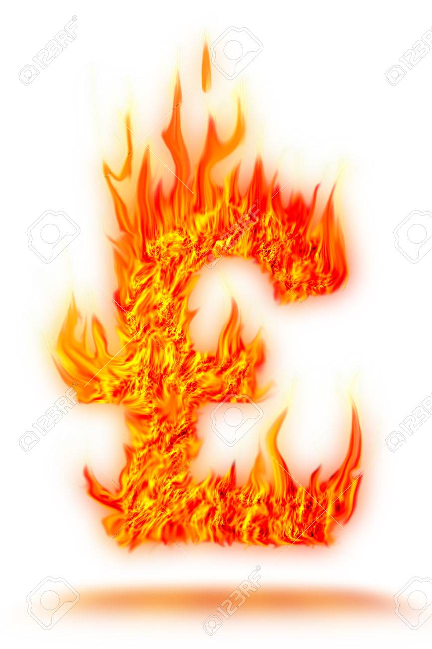 abstract fire pound symbol on isolate - 22500211