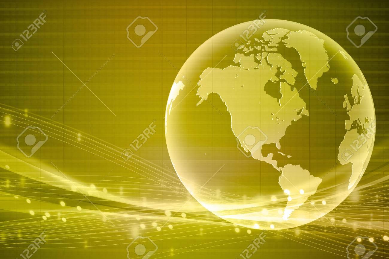 gold world business background - 25556655