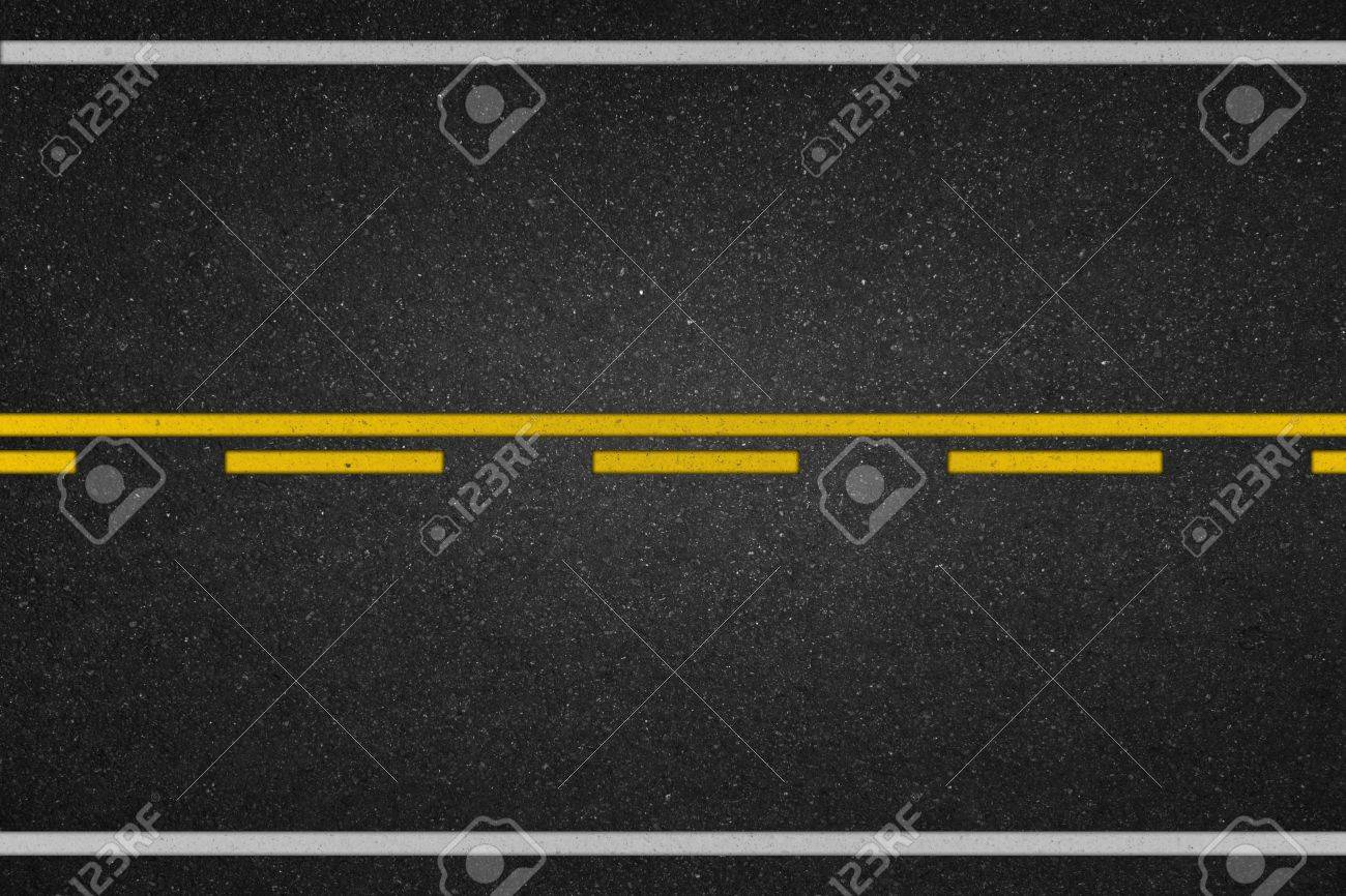 Asphalt texture with road markings background - 43314901