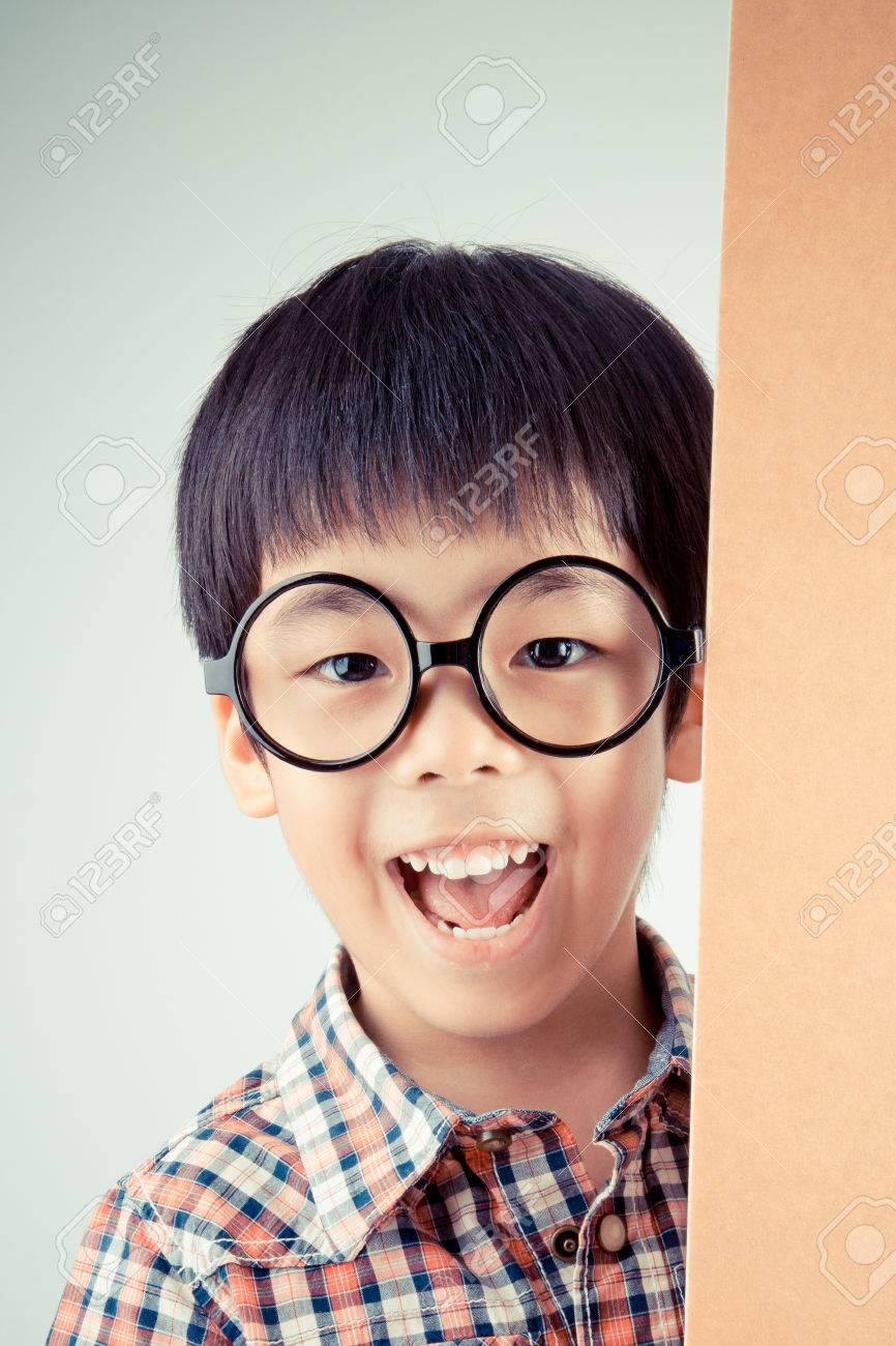 Chinese boy with glasses