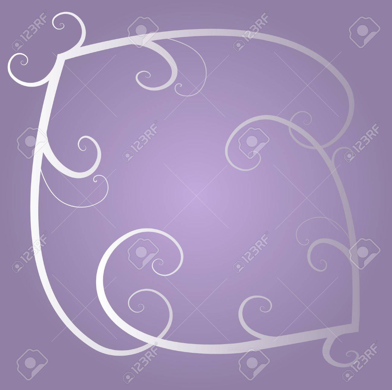 Light purple swirls background purple swirls background - Vector White And Grey Decorative Ornamental Floral Swirls On The Light Violet Background