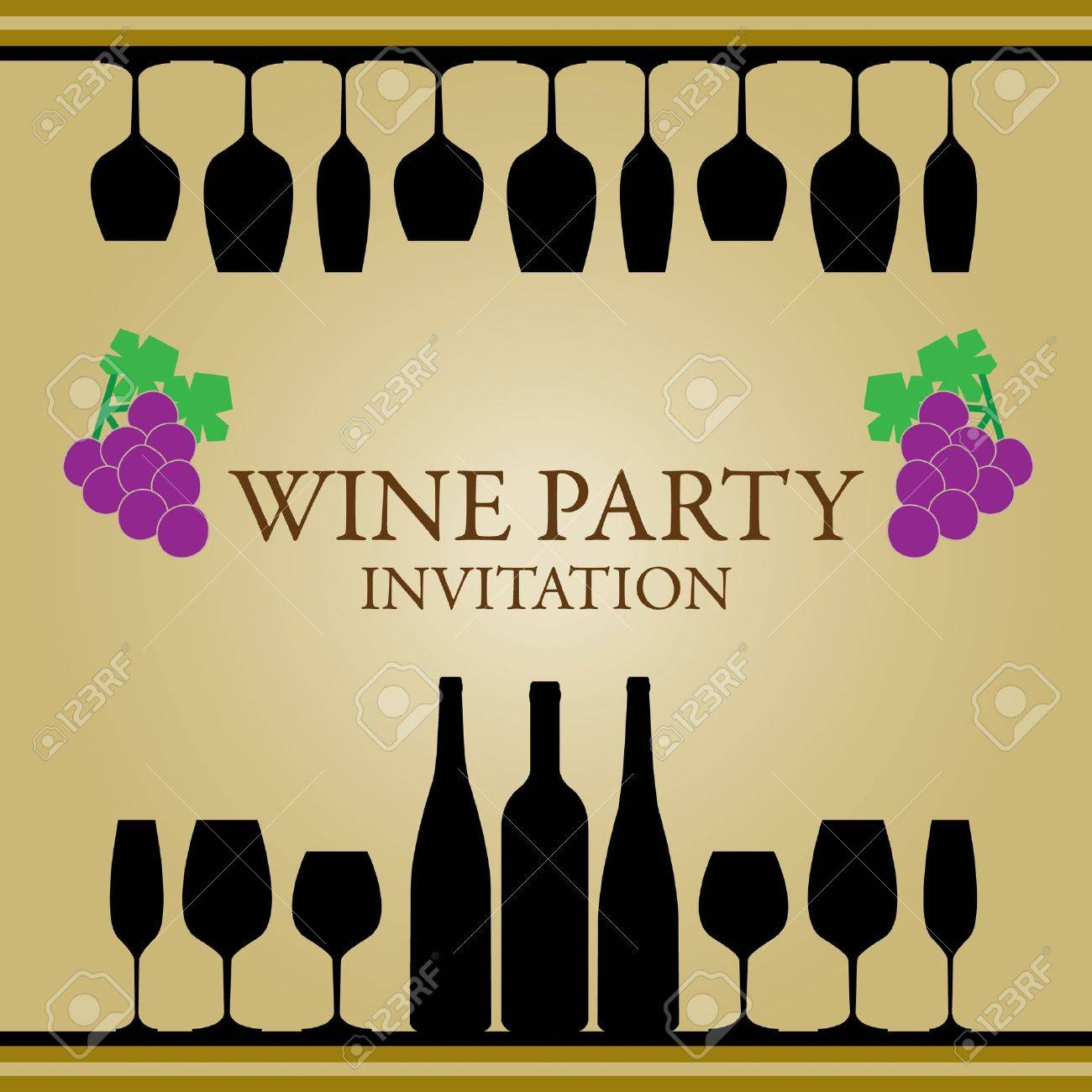 Wine Party Invitation Royalty Free Cliparts, Vectors, And Stock ...