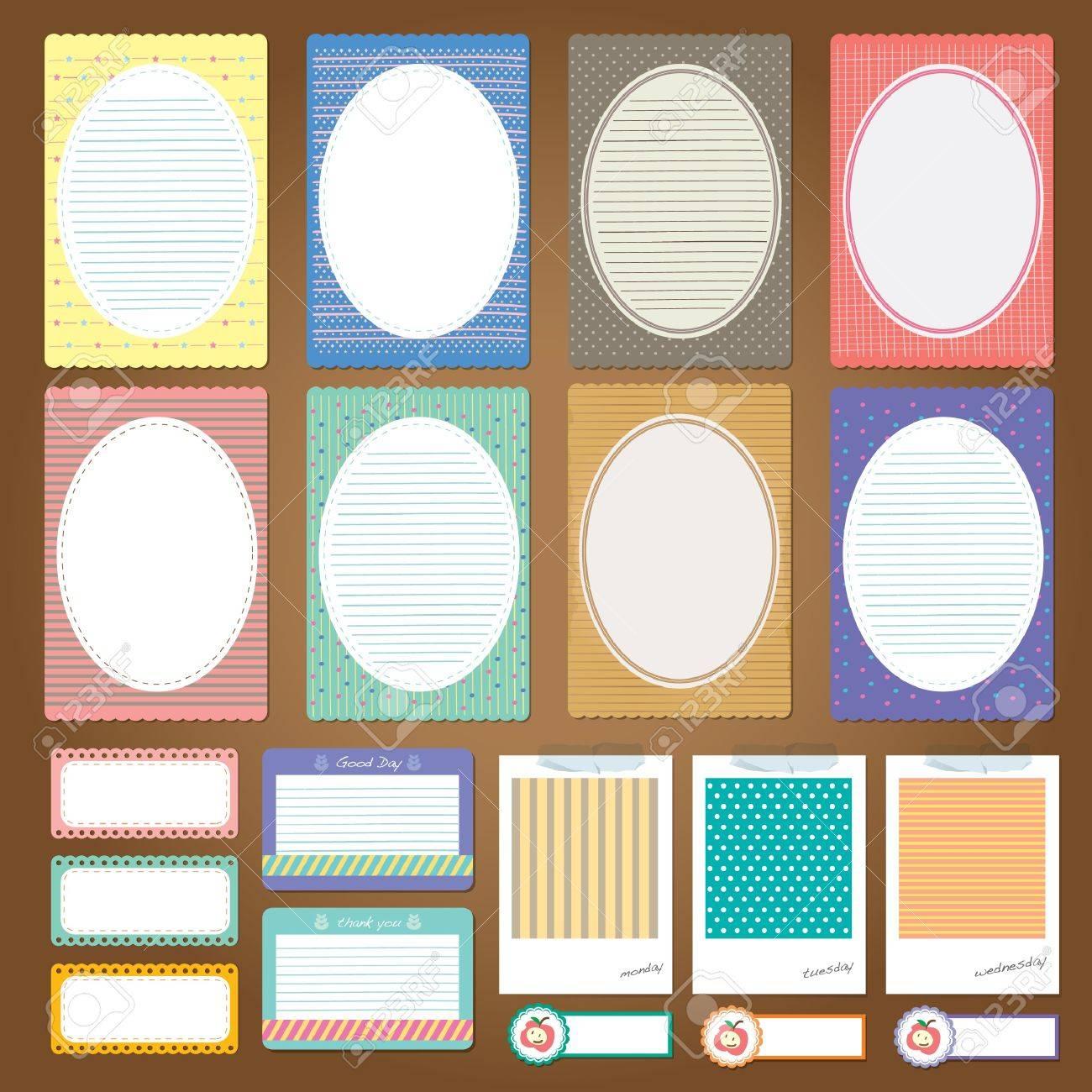 Scrapbook paper design - Vector Different Note Paper Design Set Scrapbook Elements