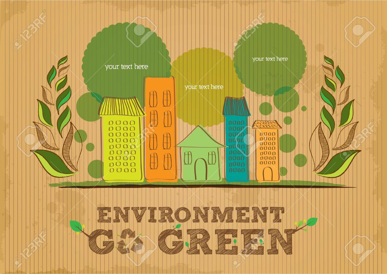 environment go green poster Stock Vector - 18689091