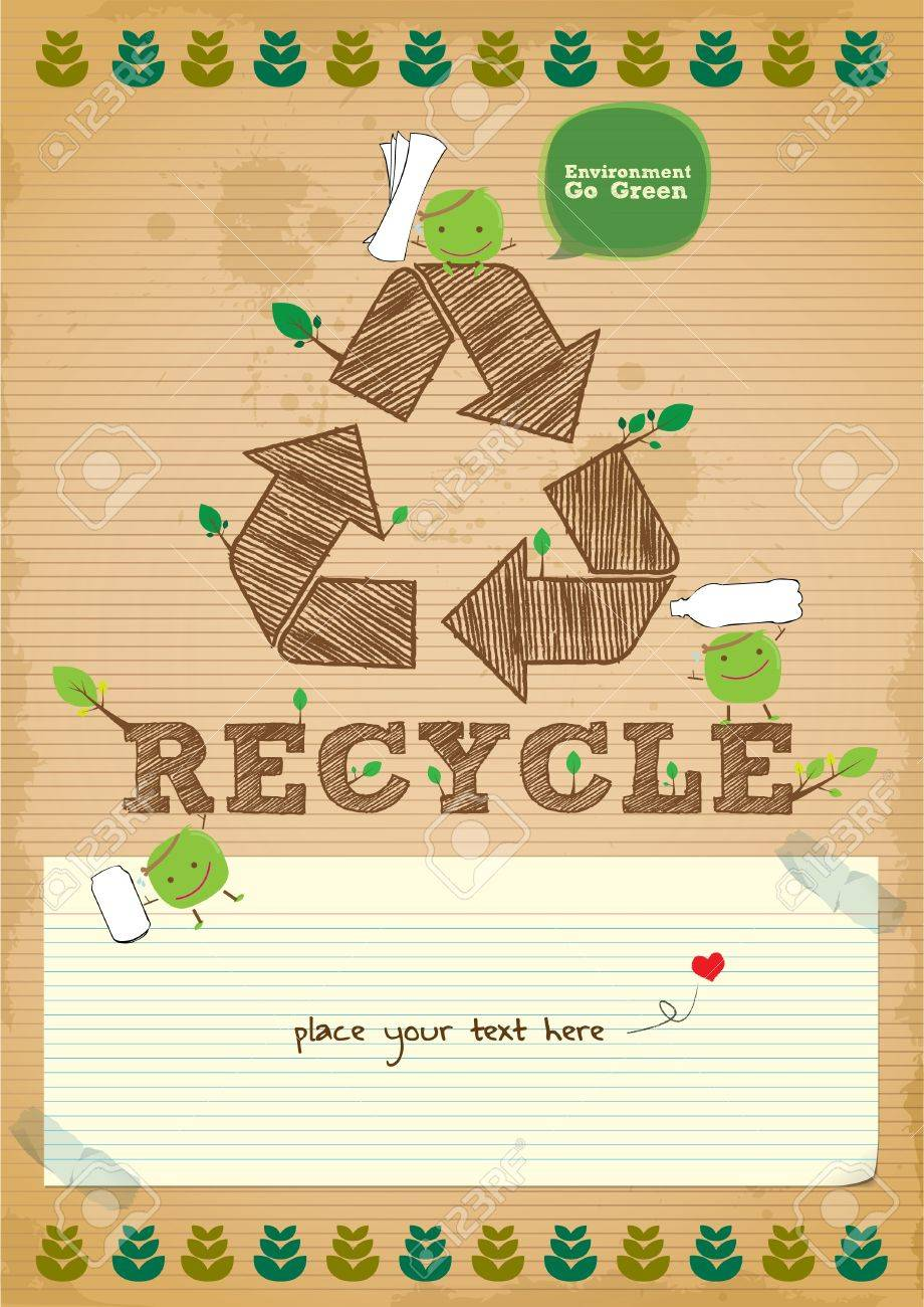 Poster design on environment - Hand Drawn Recycling Campaign Promotion Poster Design Stock Vector 18689072