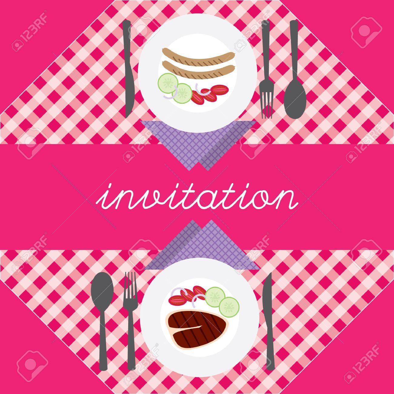 Invitación De La Cena Romántica