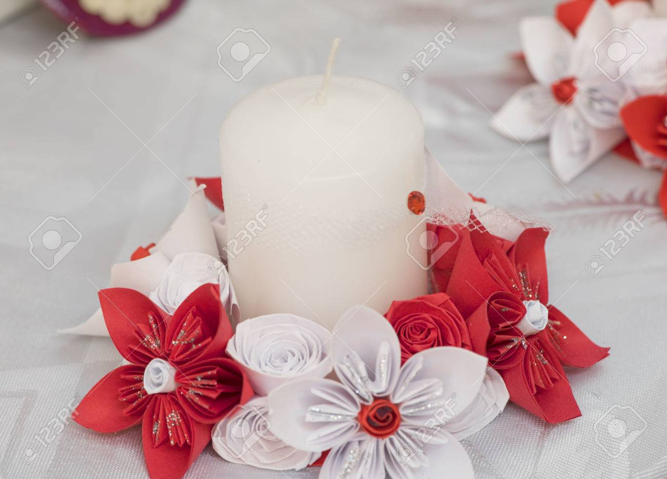 Beautiful paper flowers nice paper decoration handmade flowers beautiful paper flowers nice paper decoration handmade flowers stock photo 36781767 mightylinksfo