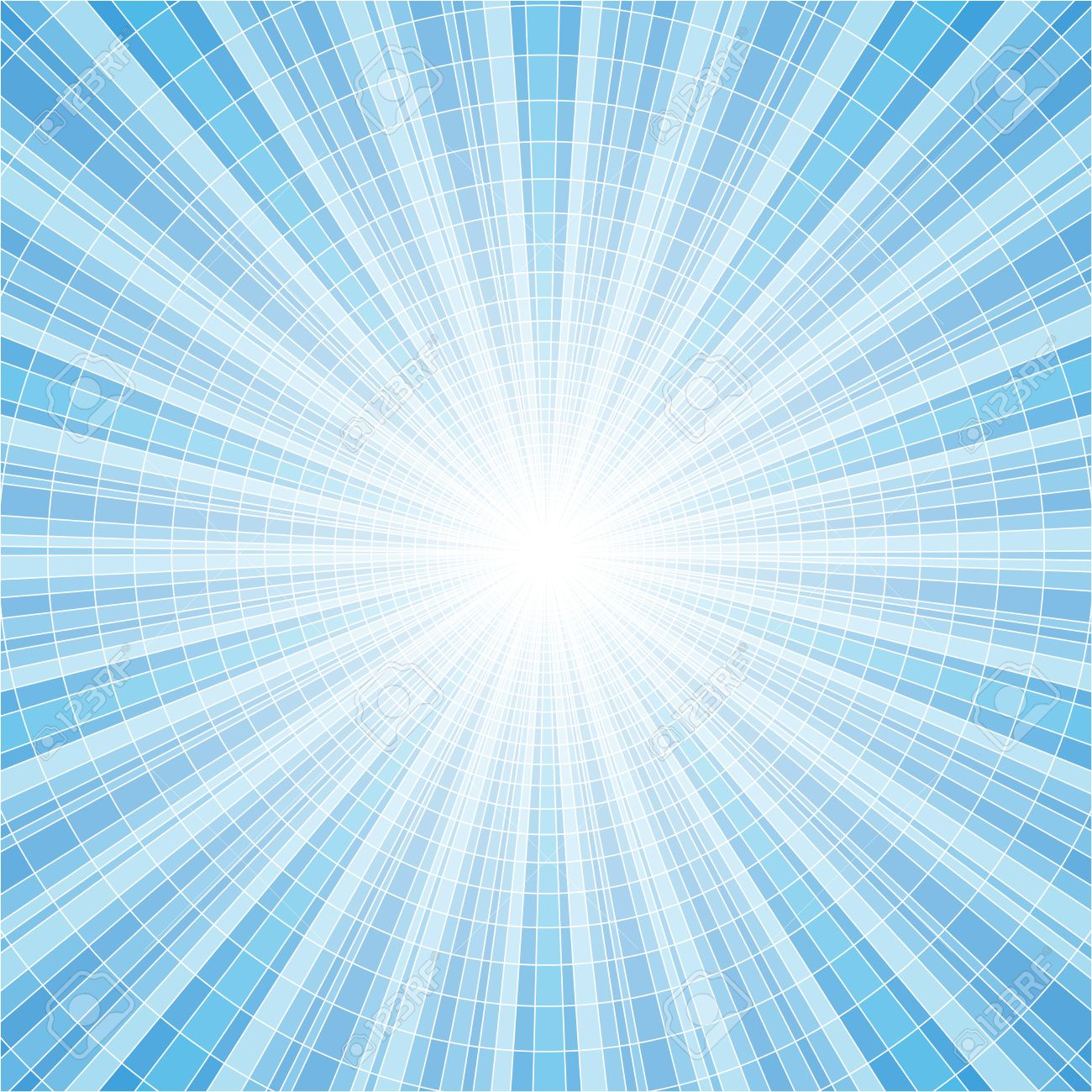 Vector Illustration Of Blue Abstract Background With Light Rays ...
