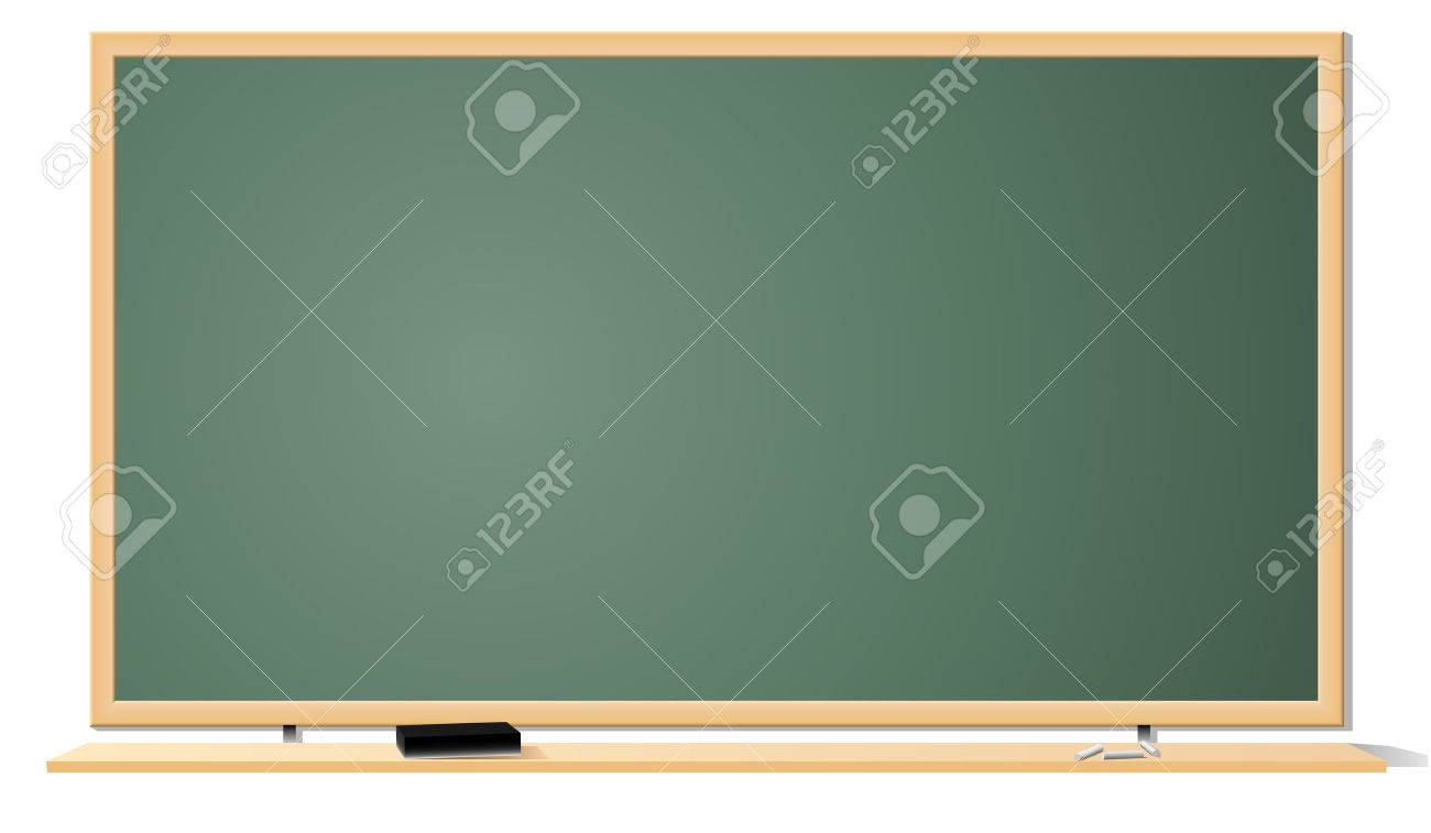 Vector illustration of green clean classroom blackboard isolated on white background. Stock Vector - 5376653