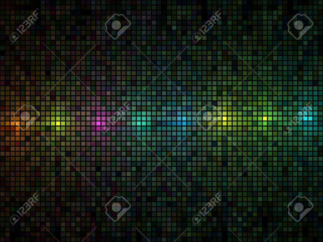 Abstract multicolor lights disco tile vector background. Stock Vector - 5677310