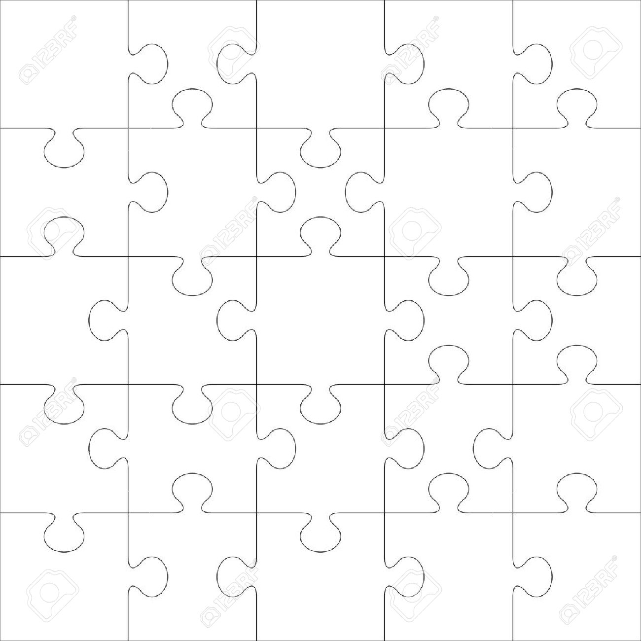 Puzzle Vector Template. Using Puzzle Pieces Of This Illustration ...