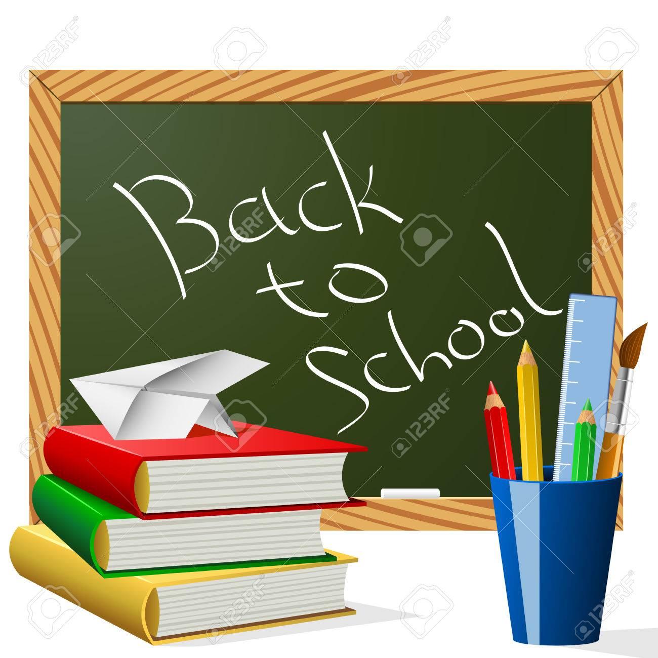 School year beginning concept illustration. Stock Vector - 7510197