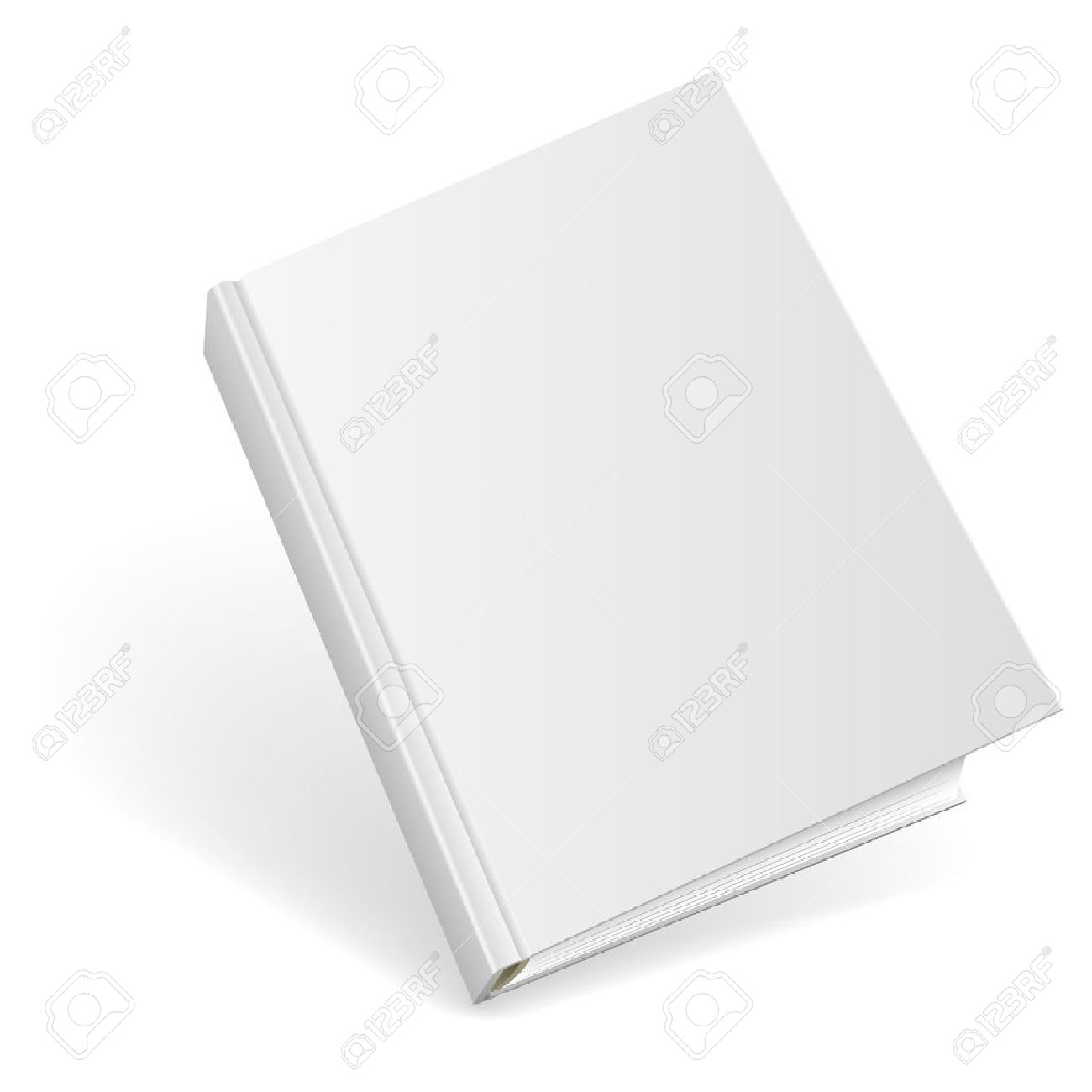 3D blank hardcover book isolated on white background. Stock Vector - 14607753