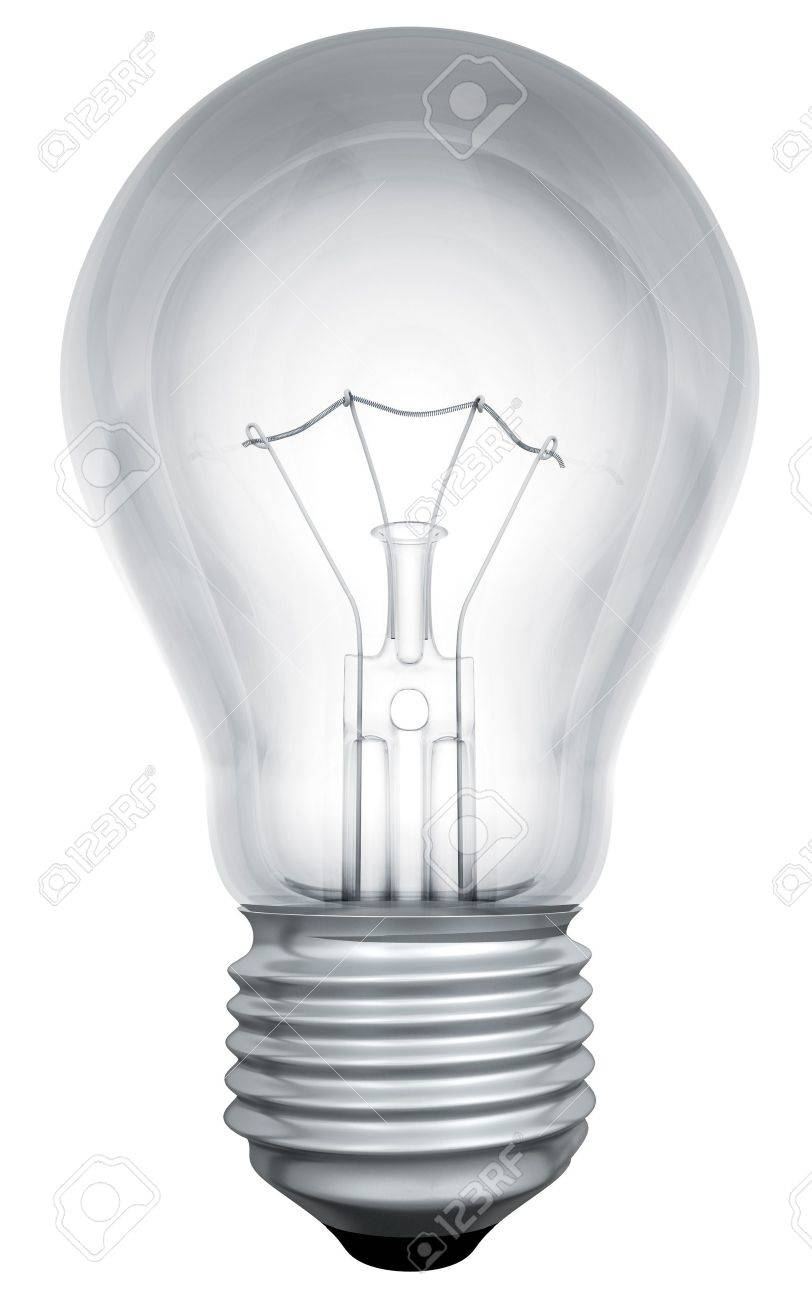 Standard Light Bulb Template Isolated On White Background. Stock Photo    17229521
