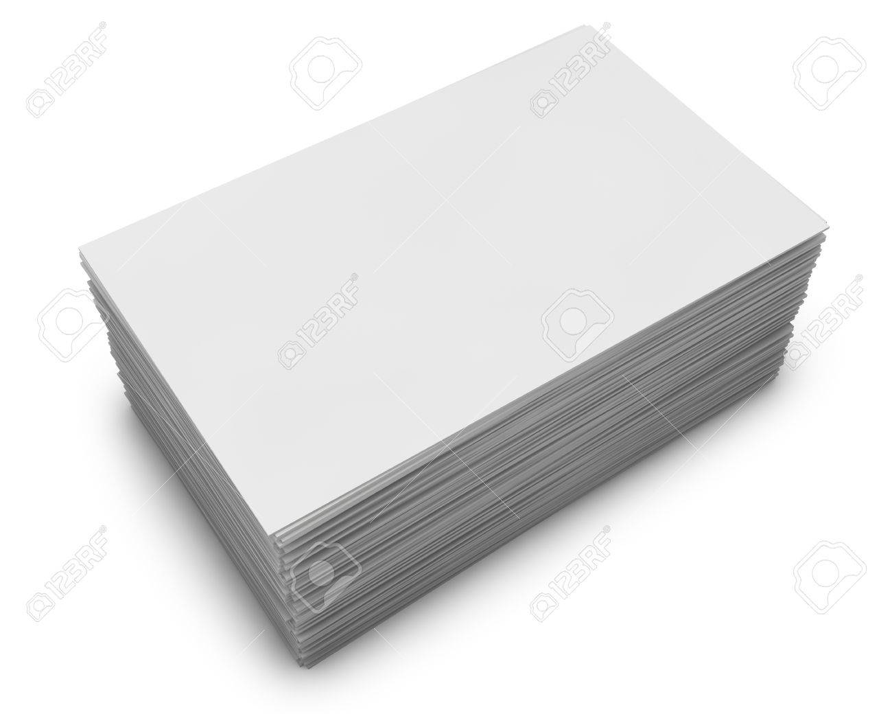 Blank business cards stack isolated on white background stock photo blank business cards stack isolated on white background stock photo 17696240 reheart Image collections