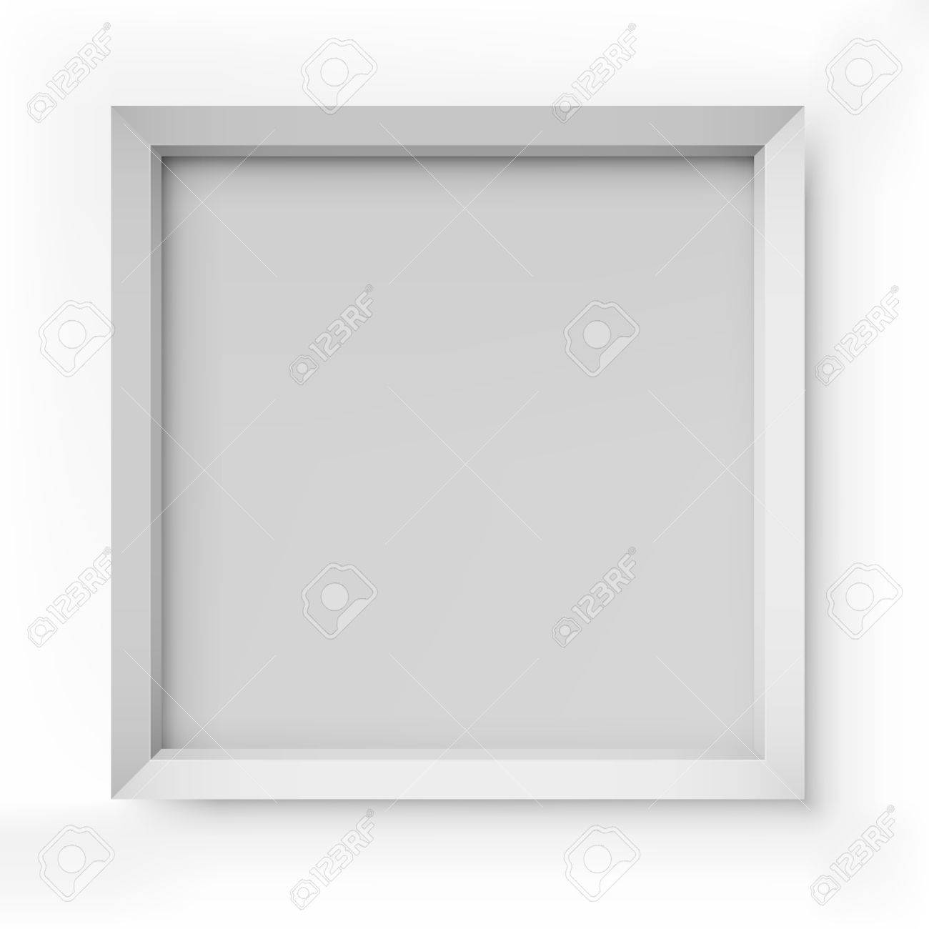 Blank white picture frame isolated on white background vector template Stock Vector - 19375863