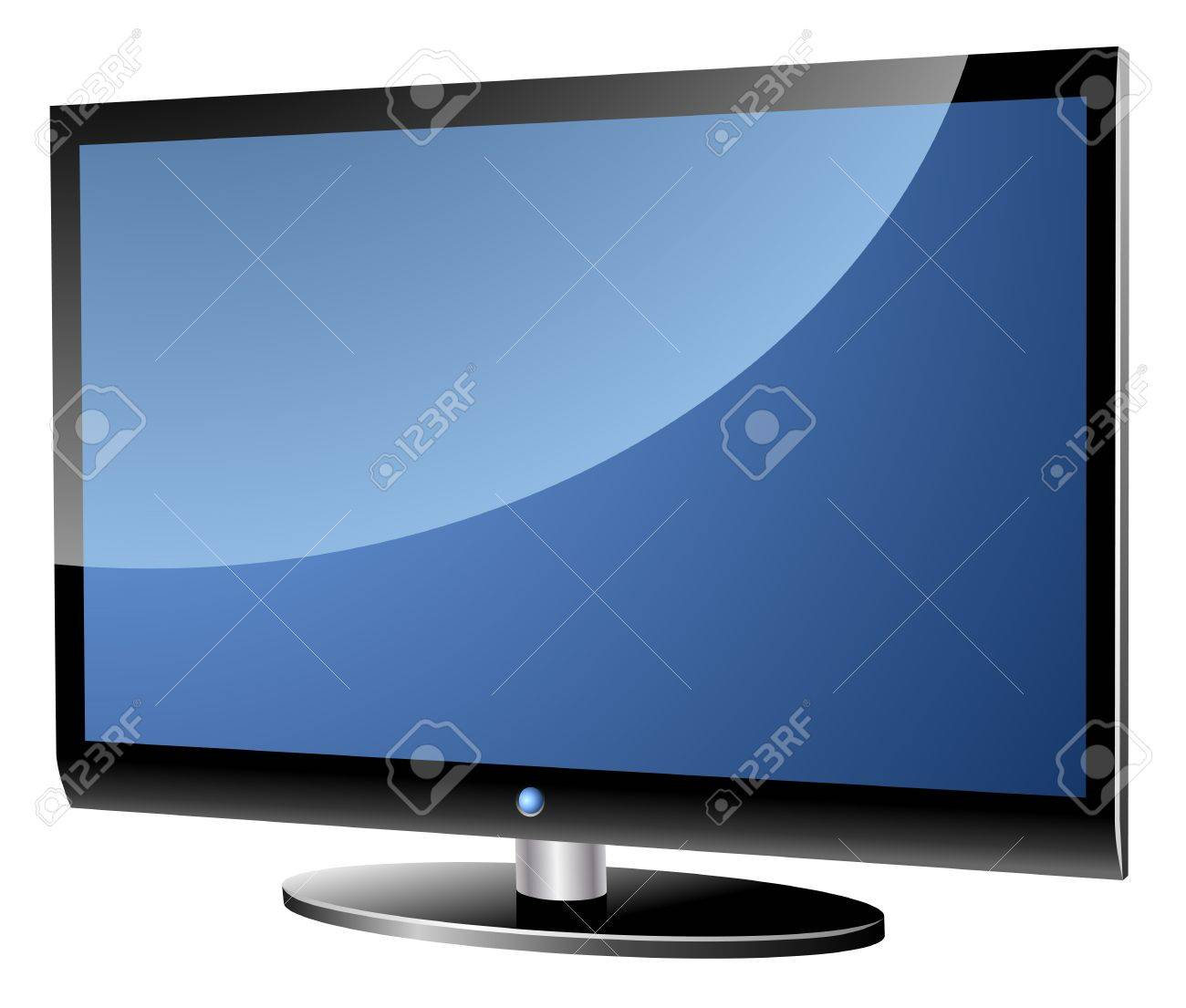 Wide screen modern TV set isolated on white Stock Vector - 19685084