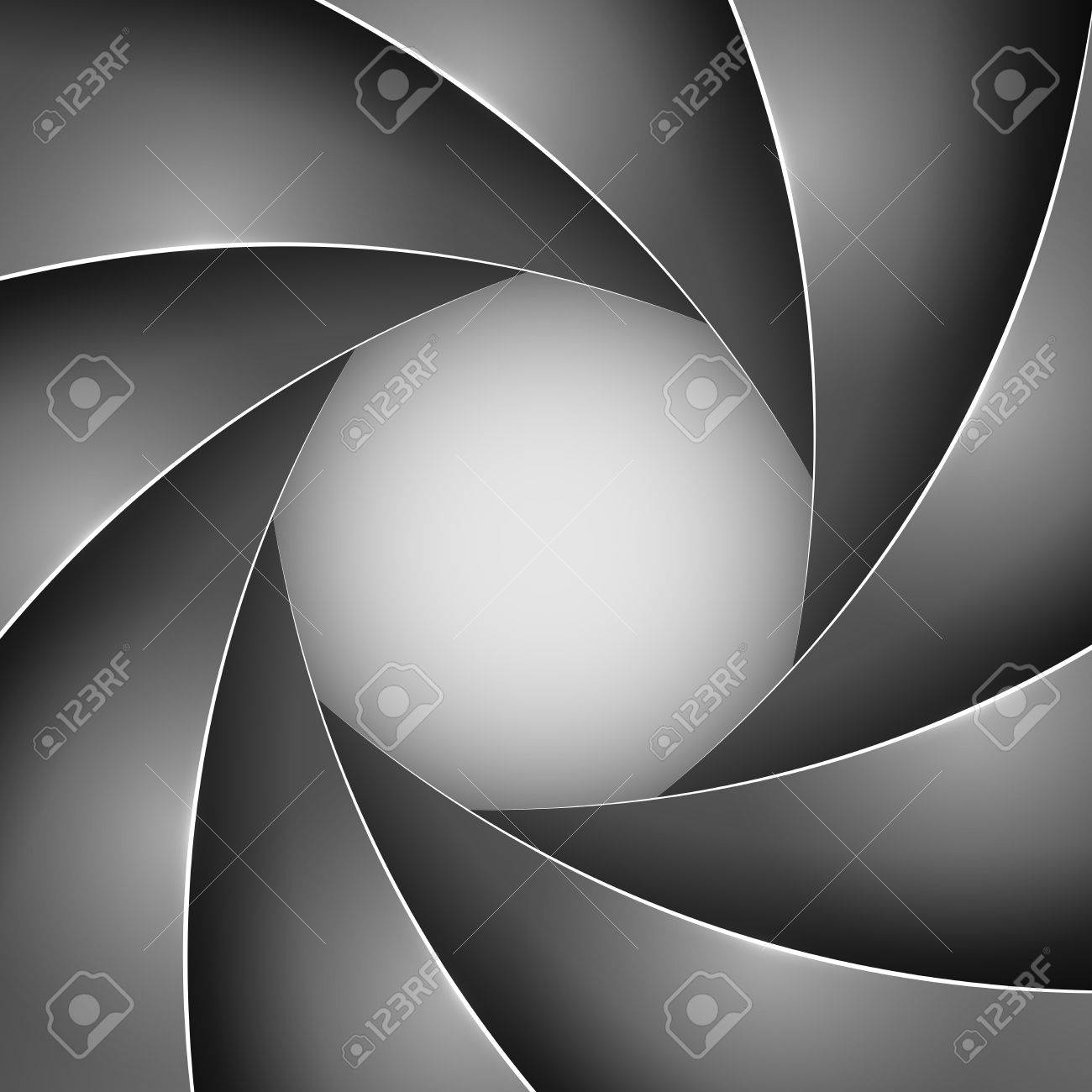 Abstract black photo shutter aperture vector background with copy space Stock Vector - 19975678