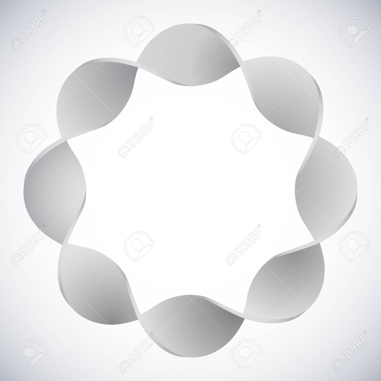 Seamless twisted 3D ring vector design element Stock Vector - 21075275