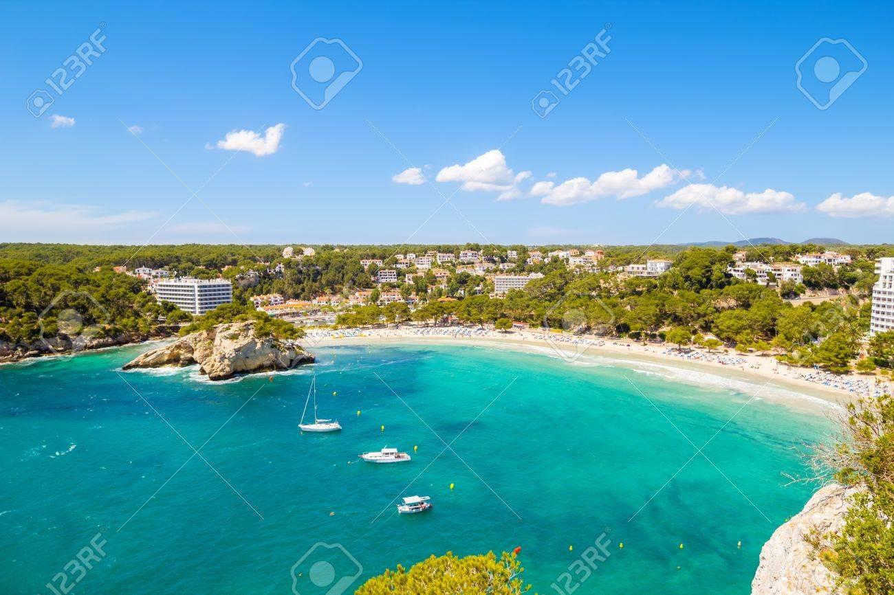 Cala Galdana - one of the most popular beaches at Menorca island, Spain - 21578076