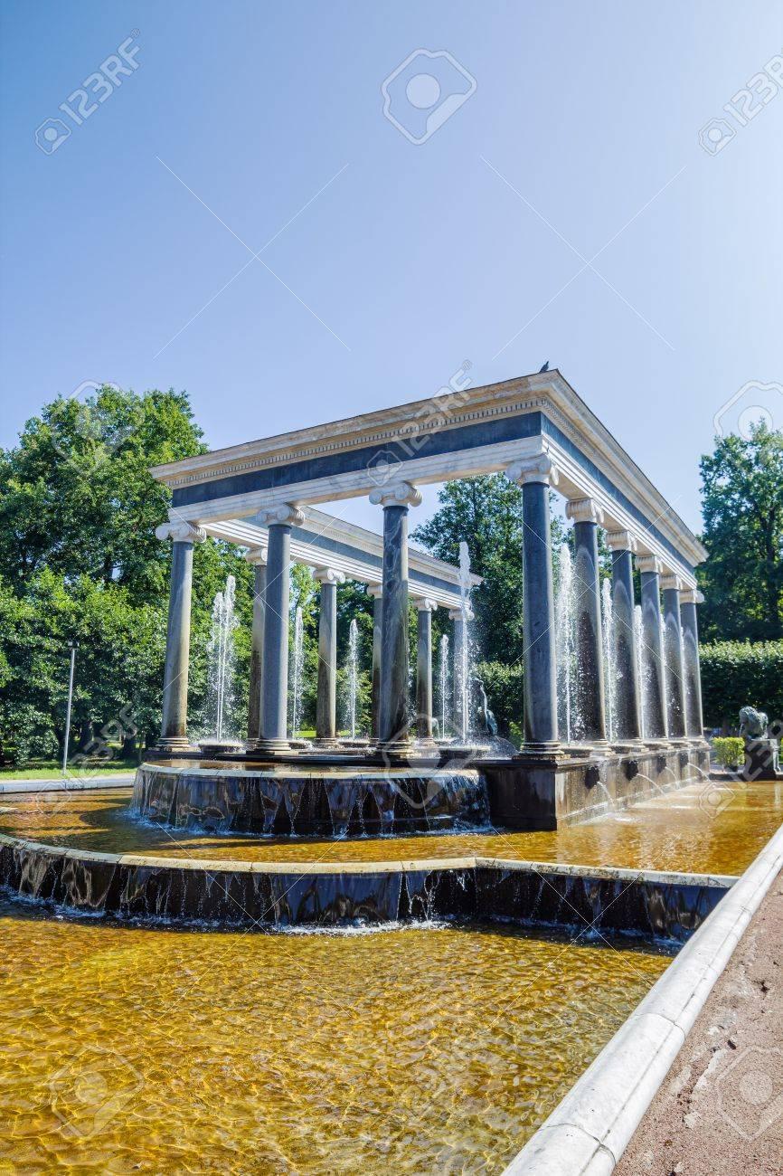 The lion fountain in Peterhof lower park, Saint-Petersburg, Russia Stock Photo - 21578111
