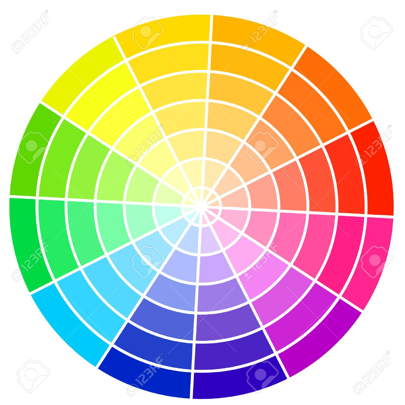 Standard color wheel isolated on white background vector illustration - 23656581